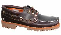 Timberland Earthkeepers 3 Eye Lug Lace Up Brown Leather Mens Boat Shoes 6501A U5