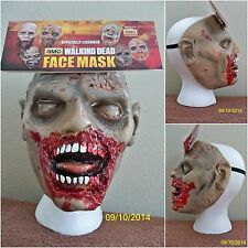 WALKING DEAD BITER WALKER ZOMBIE HALLOWEEN LATEX FACE MASK COSTUME MA1019