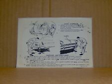 1955 Lincoln Capri and Custom JACK STOWAGE & JACKING INSTRUCTIONS DECAL