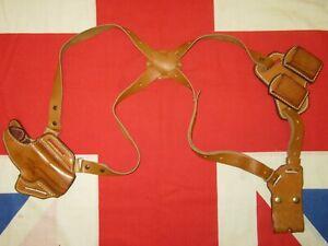 Vintage Colt 45 Auto 1911 Leather Shoulder Holster Rig Made In England