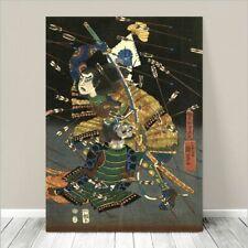 "Vintage Japanese SAMURAI Warrior Art CANVAS PRINT 8x10"" Kuniyoshi Battle #251"