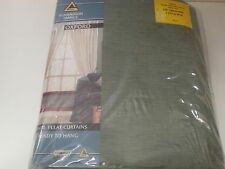 OXFORD PENCIL PLEAT CURTAINS SAGE 340 WIDE X 221CM DROP