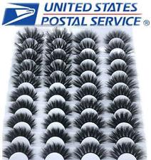 NEW 20 Pair 3D Natural Bushy Cross False Eyelashes Mink Hair Eye Lashes Black US