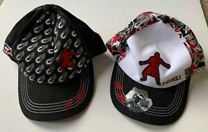 Lot of Two (2) Chuck Liddell Cage Fighter Martial Arts Snapback Hats Caps UFC