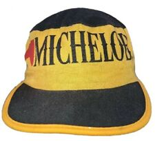 Michelob Beer Yellow & Black Painters Hat Cap Made in the USA Vintage 1980s