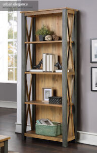 Baumhaus Urban Elegance - Reclaimed Tall bookcase Solid Wood Furniture
