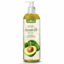 Pure Original Cold Pressed Avocado Oil 16 oz. Moisturizes Face, Body, Hair, Baby