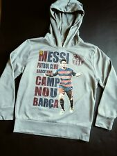FCB OFFICIAL BARCELONA HOODIE SWEATSHIRT ⚽ FUTBOL MESSI PULLOVER-BOYS-MED. CAMP