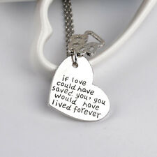 If Love Could Have Saved You Necklace for Dog Lovers