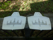Vintage Mud Flaps Large white Splash Guards Motorcycle Harley Indian Car Auto
