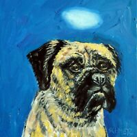 bullmastiff angel dog art PRINT on ceramic tile COASTER gift JSCHMETZ mastiff