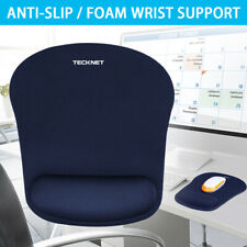 TECKNET Office Mouse Pad Gel With Wrist Support Anti-Slip Mice Mat for Laptop PC