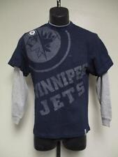 New-Mended- Winnipeg Jets Reebok Youth Medium M 10-12 Blue Long Sleeve Shirt