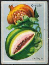 Carte Chromo - Image - Pastèque - Grenade - Fruits - Réf.177