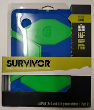 Griffin Technology Survivor Military Duty Case for iPad, iPad 2/3/4 - Blue/Green