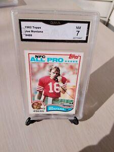 1982 Topps #488 Joe Montana ALL PRO QB 49ers, Chiefs HOFer GMA GRADED NM *7*!