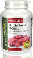 Mirtillo rosso 5000mg 120 Compresse E557