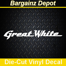 Vinyl Decal ... GREAT WHITE ... Band Car Laptop Sticker Vinyl Decal