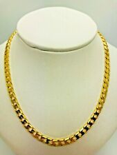 9ct Yellow Solid Gold Square Curb Chain - 22""
