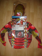 Iron Man Marvel Avengers Costume boy's M 8 muscle ID badge Rubies 620194
