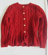 Ralph Lauren Cable Knit Cardigan Girls Toddler Sweater 2T