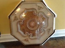 Unique White with Gold insert Ceiling Medallion Octagonal 29.5""