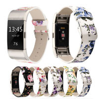 Flower Pattern Wristband Replacement Watch Strap Bracelet For Fitbit Charge 2