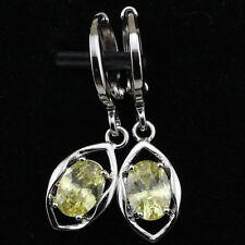Classy Nice Green Apple Peridot Jewelry Gold Filled Hoop Woman Earrings H1409