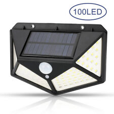 100 LED Solar Power PIR Motion Sensor Wall Light Outdoor Garden Lamp 3 Modes