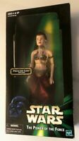 "Hasbro- STAR WARS POTF- Carrie Fisher- Slave PRINCESS LEIA WITH CHAIN 12"" Figure"