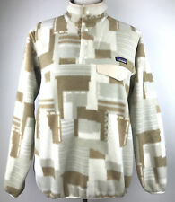 New Patagonia Small Birch White Lightweight Synchilla Snap T Fleece Pullover