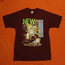 VINTAGE 1980s 90s New Orleans Mardi Gras T-Shirt Men's L USA Made Maroon Jerzees