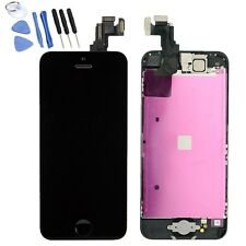 For iPhone 5C LCD Screen Digitizer Replacement W/ Button+Camera+Flex Cable Black