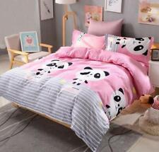 Panda Pink Cartoon Comfort Bedding Set Duvet Cover Bed Sheet Sets Four-piece New