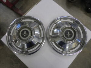 (2) 1960-1969 Chevrolet Corvair 13 Inch Hubcaps Rat Rod Wall Hanger O.E.M. Used.