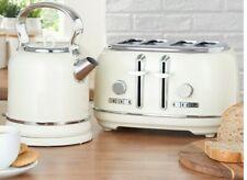 NEW CREAM RETRO four Slice Toaster And RETRO Kettle