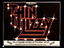"Thin Lizzy Glasgow 16"" x 12"" Reproduction promo Poster Photo"