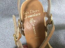 Vintage 70's SOLE THERE FAMOLARE SANDALS 8 Narrow Strappy Woman's shoes