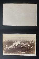 France, panorama de Rouen Vintage albumen print CDV.  Tirage albuminé  6,5x1
