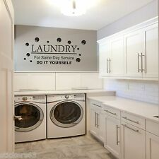 Laundry  kitchen Utillity room Fun, Decal, Wall Art,  DIY Laundry
