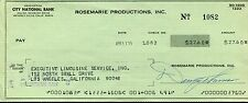 DANNY THOMAS HAND SIGNED BUSINESS CHECK+COA          HOLLYWOOD LEGEND