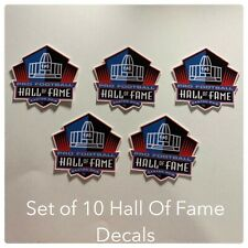 Lot Of (10) Hall Of Fame Vinyl Decals Stickers NFL