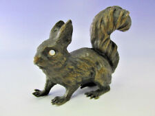 Bronze Figur Eichhörnchen Skulptur Opal Auge wohl Wiener Werkstätten Antik