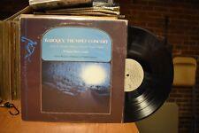 Hanns Reinartz Wolfgang Basch Baroque Trumpet Concert LP Sine Qua Non SQN7753 ST