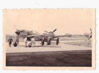 Original Foto Fw 190 A-3 mit Staffelwappen und Kennung Kommando Staffelzeichen