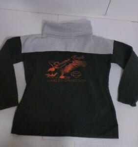 Harley-Davidson Black & Gray Pullover Fleece Sweatshirt Screamin' Eagle Medium