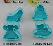 4 Moules Gateaux Emporte Pieces Pate d'Amande Pate a Sucre Cake Design