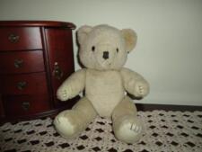 Old Vintage Teddy Bear Beige Jointed 12 inch