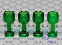 NEW Lego City Minifig Lot/4 GREEN GOBLET Pirate Castle Minifigure Food Wine Cup
