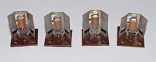 4 PIECES AC132 TRANSISTOR WITH HEATSINK FOR PHILIPS ELECTRONIC KITS